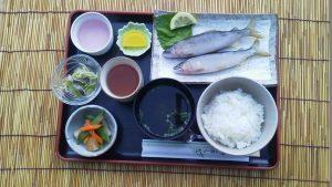 鮎塩焼き定食